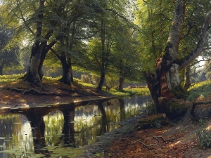 Monsted A Stream Through The Glen