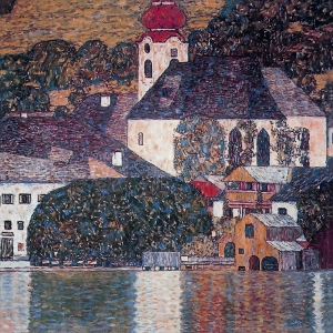 Gustav Klimt Church At Unterach On Lake Atter