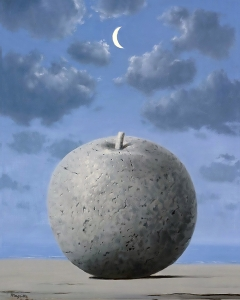 Magritte Apple Moon