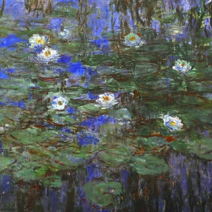 Monet Blue Water Lillies