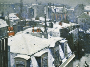 Caillebotte Roofs Under Snow