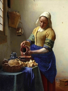 Vermeer The  Milkmaid Reduced