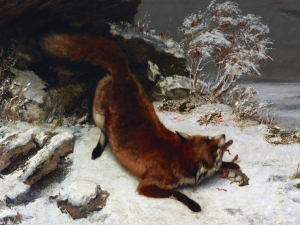 Courbet Fox In The Snow