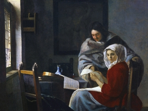 Vermeer  Girl Interrupted At Her Music