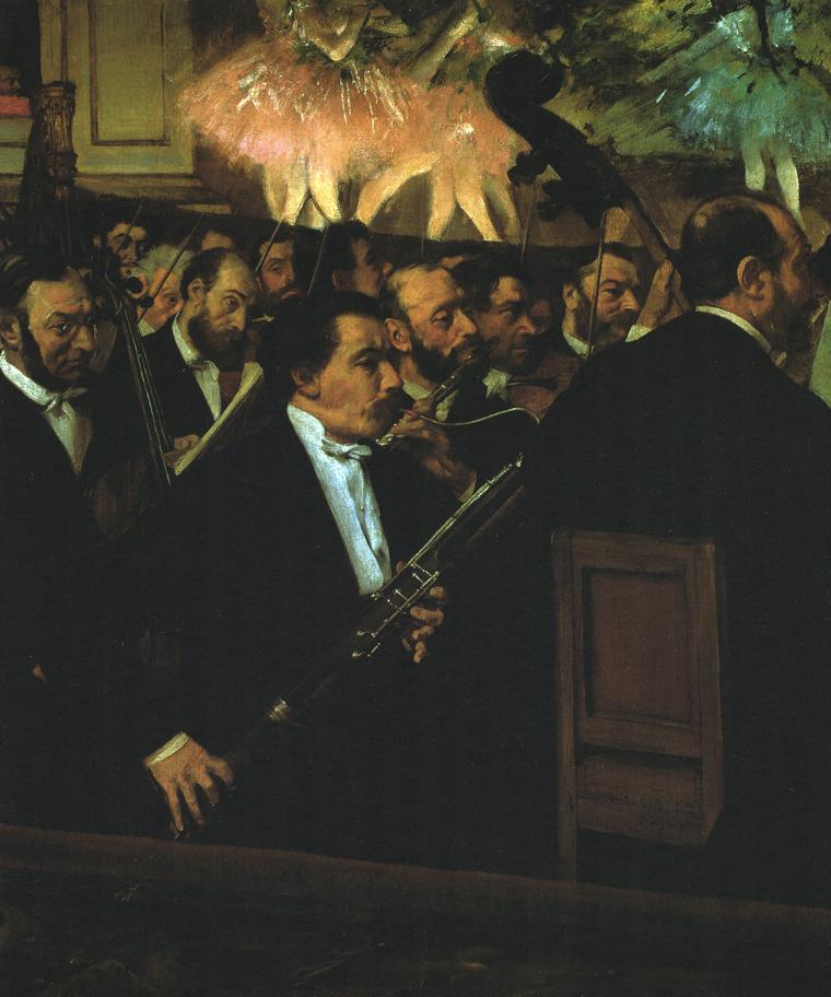 """Recenzje #77 - """"Opera Paryska Palais Garnier historia, sztuka, mit"""" - obraz pt. Orkiestra Opery Paryskiej - Edgar Degas ok. 1870 r. - Francuski przy kawie"""