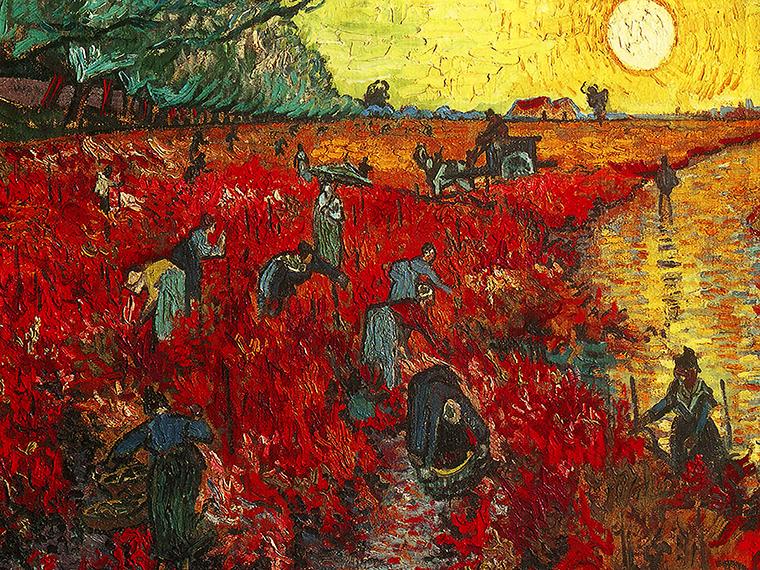 Znalezione obrazy dla zapytania vincent van gogh czerwona winnica